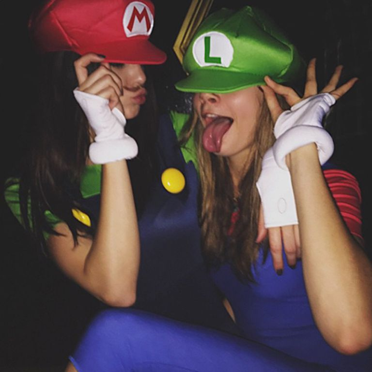 Kendall-Jenner-and-Cara-Delevigne---Mario-and-Luigi-HB